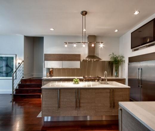 Modern Galley Style kitchen, maple/beach cabinets, $50,000 - $100,000, Lisa Grider, Atlanta