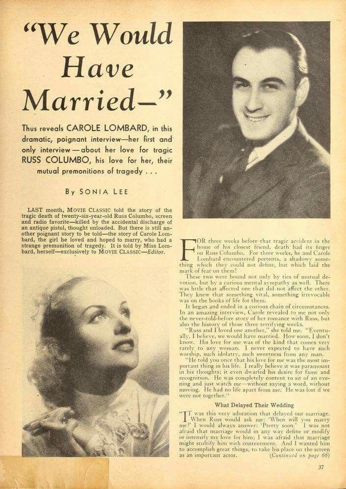 Carole Lombard & Russ Columbo
