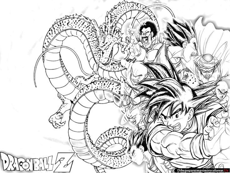 Dibujos Dragon Ball Para Imprimir Colorear