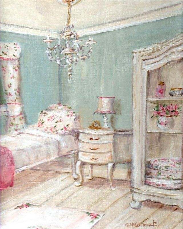 Shabby Chic Guest Room Painting By Gail McCormack