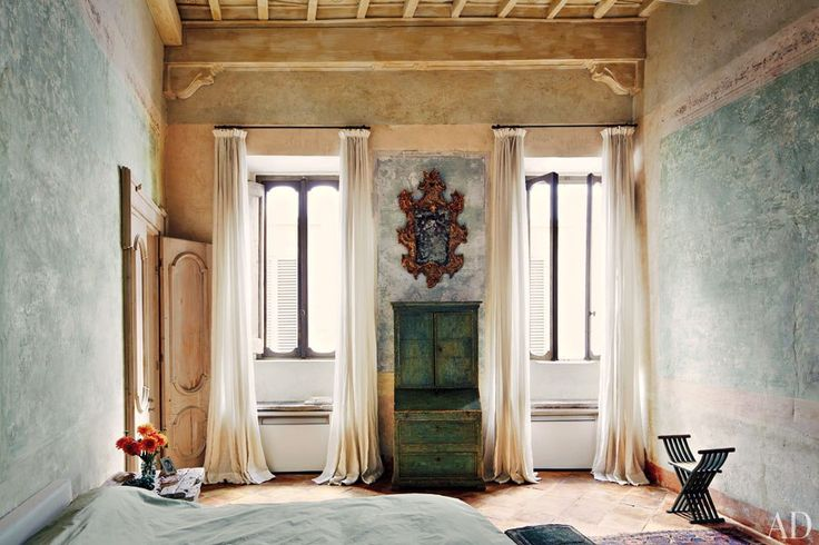 Katia & Marielle Labèque's palatial   apartment and studios in Rome. Designed in collaboration with Axel Vervoordt