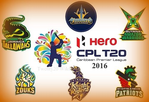 Hero Caribbean Premier League 2016 is 4th edition of CPLT20. Get CPL 2016 full schedule, fixtures, teams, venues, broadcasters and series info.