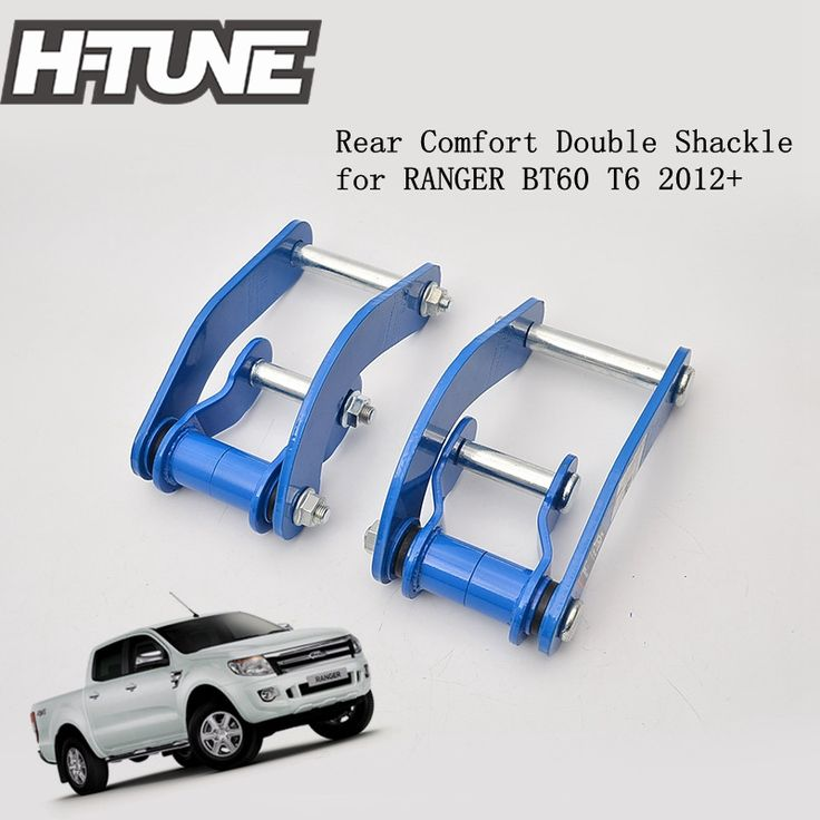 H-TUNE 4x4 Pickup Rear Leaf Spring Comfort Double G-Shackles Kits for RANGER PX MAZDA BT60 XL 12+ #Affiliate