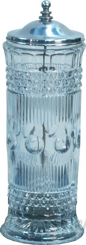 Early Soda Fountain Countertop Fancy Glass Straw Holder