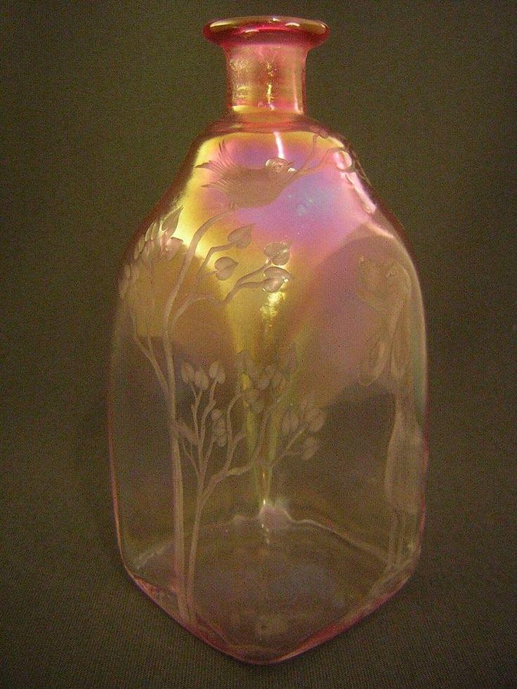 Glasvase, Ritzsig.: Eisch J.Sch.83, geschliffen, Lüster, h-22,2cm | eBay