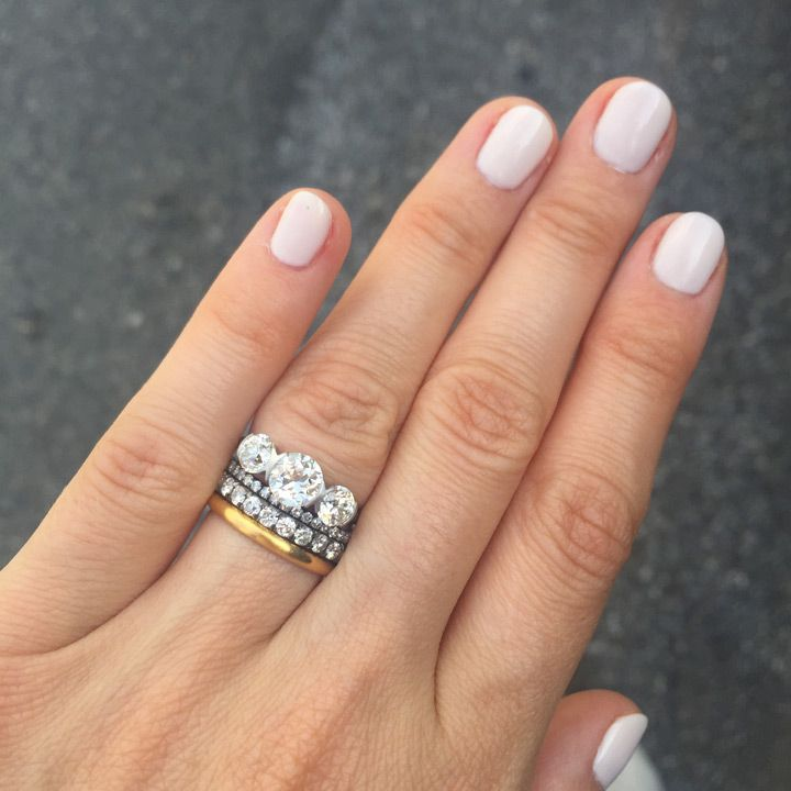 Stacked Wedding Ring Styles That'll Leave You Breathless ~ we ❤ this! moncheribridals.com