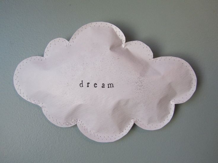 // Dream paper puffed cloud wall hanging #etsy