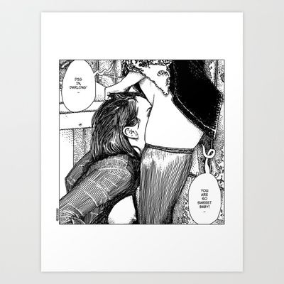 Apollonia Saintclair 411 - 20130920 La diète douce (Dig in, Darling') Art Print by From Apollonia with Love - $18.00