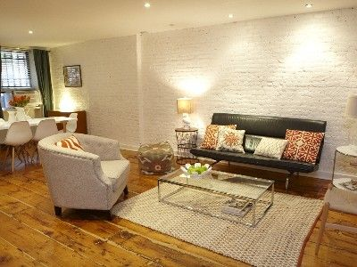 Brooklyn apartment rental - Living Room and Dining Area