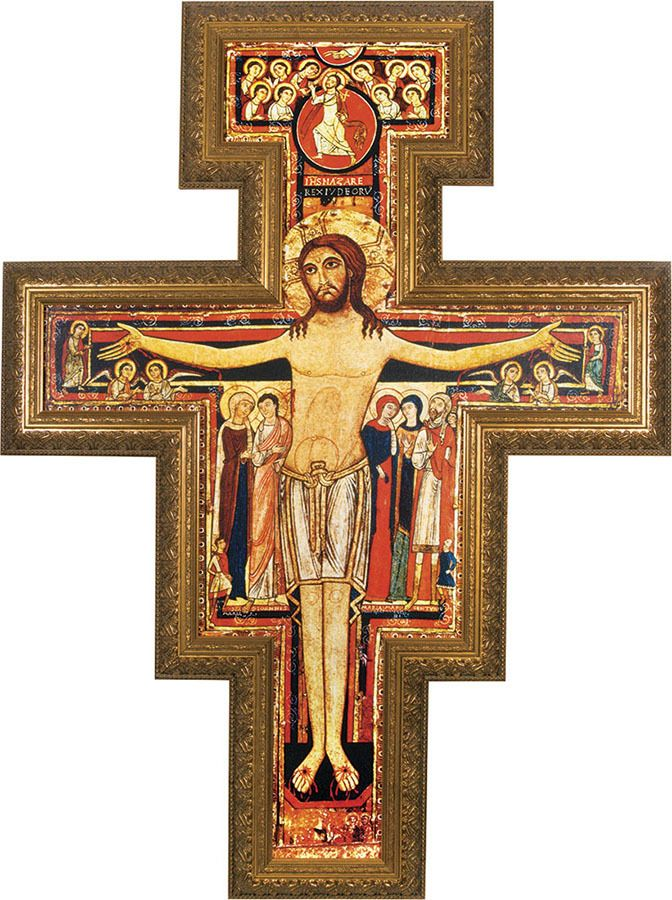San Damiano Framed Wall Cross - Catholic to the Max - Online Catholic Store