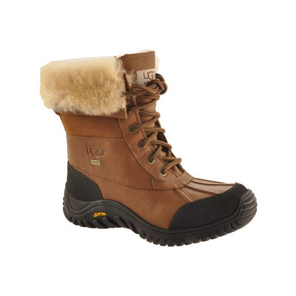 Women's UGG Adirondack Boot II - Otter Casual ($225) ❤ liked on Polyvore featuring shoes, boots, otter, waterproof leather boots, leather boots, water resistant shoes, waterproof shoes ve cuffed boots
