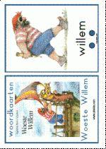 Woordkaarten Woeste Willem groot