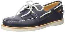 Sebago Men's Crest Dockside Boat Shoe, Navy Leather, 10 M US