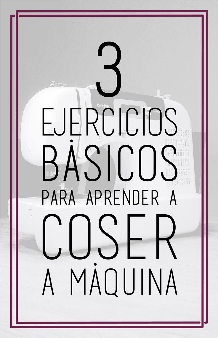 Costura paso a paso: 3 ejercicios básicos para aprender a coser a máquina.