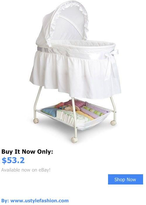 Bassinets And Cradles: Baby Bassinet Delta Children Cradle White Moses Basket Nursery Furniture New BUY IT NOW ONLY: $53.2 #ustylefashionBassinetsAndCradles OR #ustylefashion
