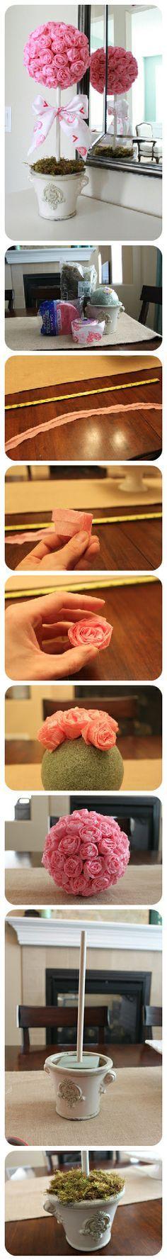 Topiario de papel seda