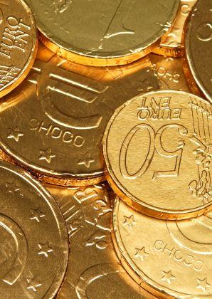 Chocolade euro munten Sinterklaas - Sinterklaaskaarten - Kaartje2go - ©OTTI