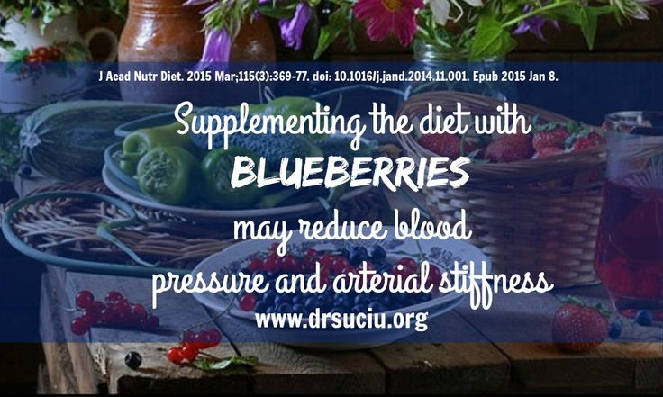 Blueberries  and high blood pressure - drsuciu