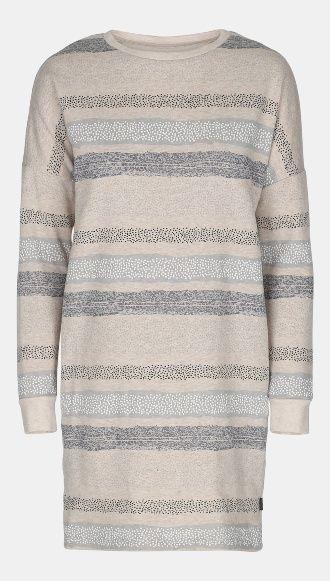 Sweatshirtstoff, Natur Melange mit Strei - STOFF & STIL