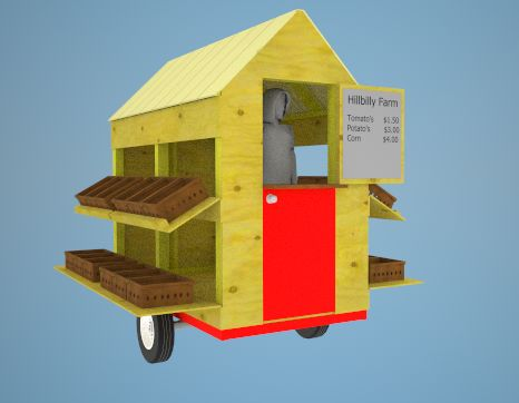 I could imagine owning my own portable tiny shop. I would sale all types of goodies!