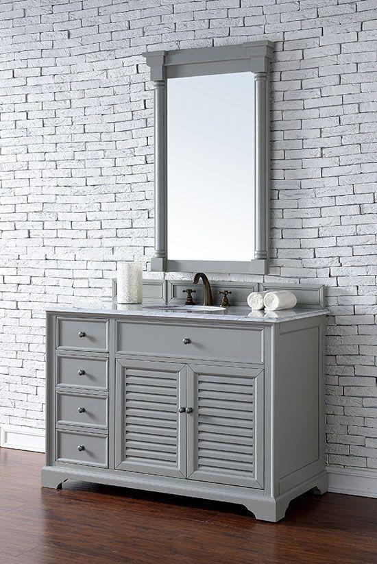 James Martin Savannah (single) 48-Inch Urban Gray Transitional Bathroom Vanity With Top Options