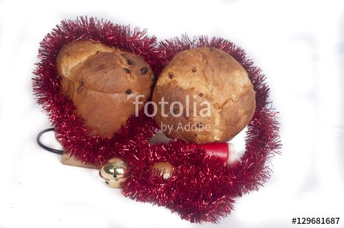 Panettone on an White background