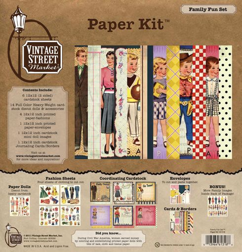 Vintage Street Market - Family Fun Collection - 12 x 12 Paper Kit at Scrapbook.com $16.95