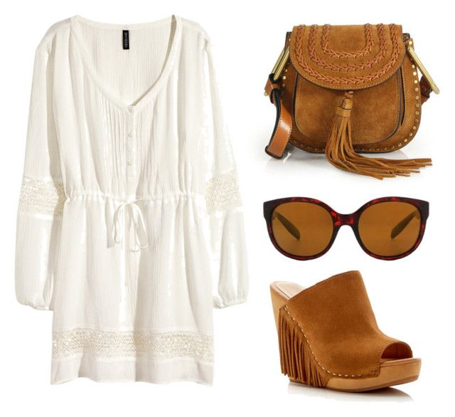 """#yahoraquemepongo"" by ssolfernandezz ❤ liked on Polyvore featuring H&M, Chloé, Dolce Vita and Native"