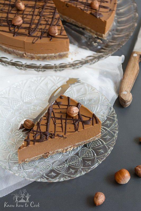 Шоколадова торта с тиква, лешников тахан, какао и лешници