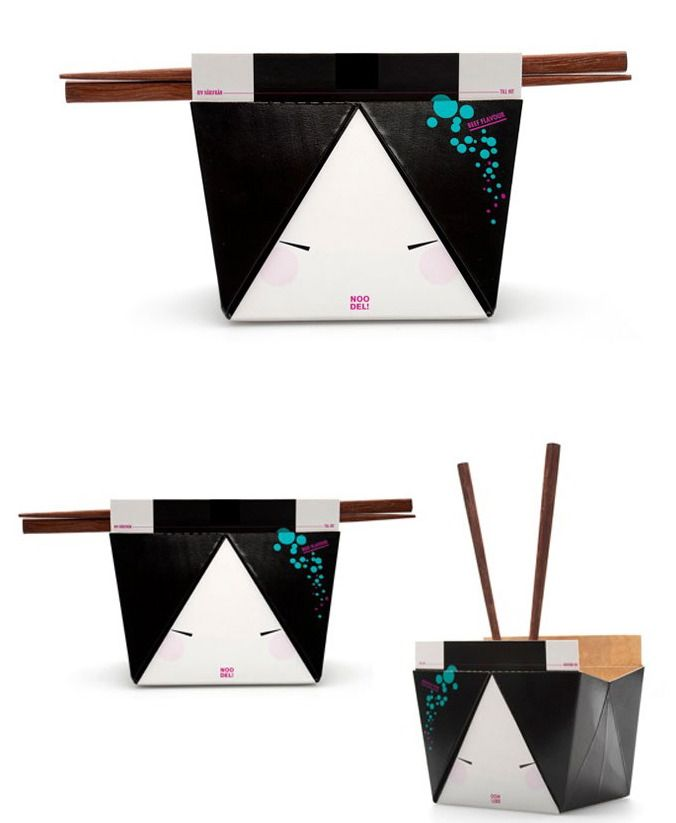 Personified Geisha Pouches Noo-Del packaging by Helen Maria Backstrom embodies a true sense of creativity, treating takeout boxes into works of cultural art.