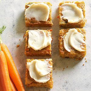 These spice bars are loaded with healthy ingredients including carrots, zucchini, and walnuts. This low-sodium recipe is a family pleaser.