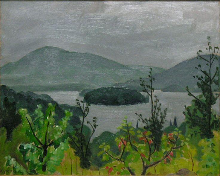 """John Lyman,(1886-1967) """"Lake Ouimet, Mont Tremblant"""", c. 1941"""