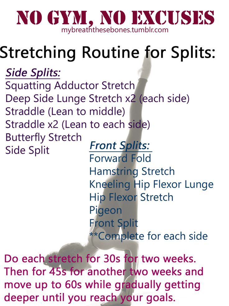 Doing this everyday until I'm finally able to do the splits:) Follow me for more healthy eating and fitness on a budget:)