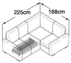 Tor 3X2 Corner Sofa Bed - Corner Sofa Beds UK | Nabru
