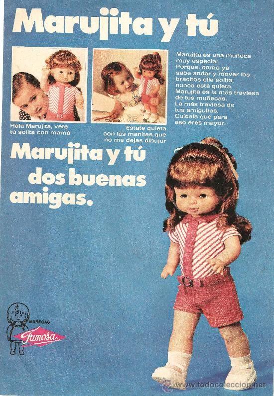 Marujita y tu #Famosa #vintage #ad #dolls #toys #juguetes #publicidad #muñecas #retro