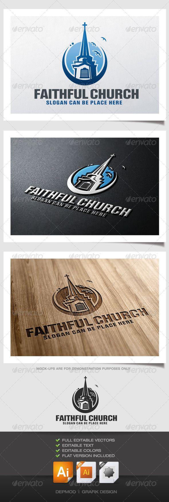 Faithful Church  Logo Design Template Vector #logotype Download it here:  http://graphicriver.net/item/faithful-church-logo/4587225?s_rank=504?ref=nesto