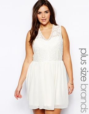 Image 1 of Truly You Lace Bodice Skater Dress