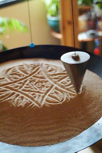 Sand Pendulum   Hanging pendulum scratches its way through a…   Flickr