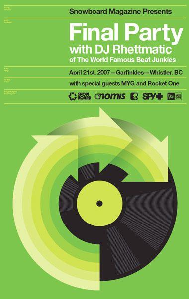 Poster Design by Aaron Draplin www.draplin.com