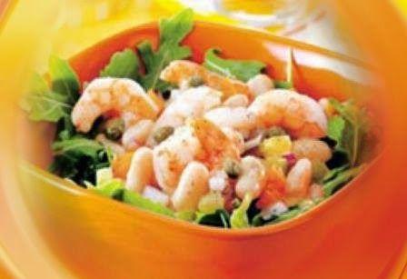 Эликсир молодости: Салат из белой фасоли и креветок