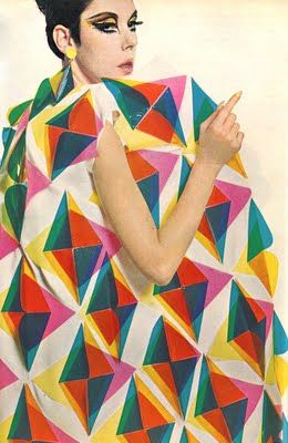 Peggy Moffitt. 60s chic and geometric patterns