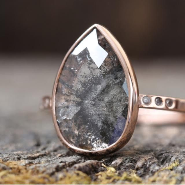 pink gold + black diamond :: Alexis Russell Jewelry