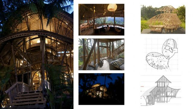 Best sustainable bamboo buildings by Elora Hardy