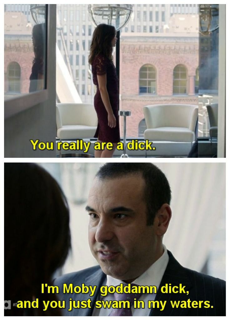 """Louis Litt & Scottie #Suits #Season3 """"I'm Moby God-damn Dick, and you just swam in my waters."""""""