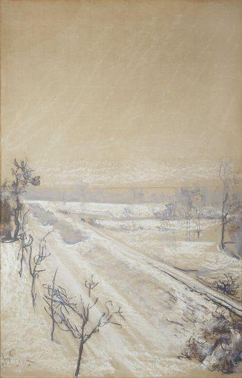 Stanisław Wyspiański - Widok z okna pracowni artysty na Kopiec Kościuszki, 1905.