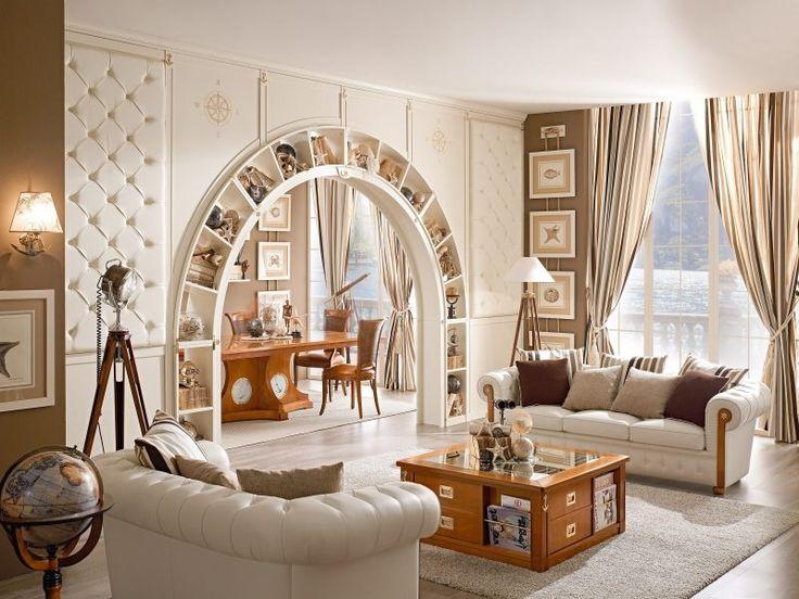 Weiße maritime Möbel für das Wohnzimmer Interior Ideen - schone schlafzimmergardinen wohlfuhlfaktor