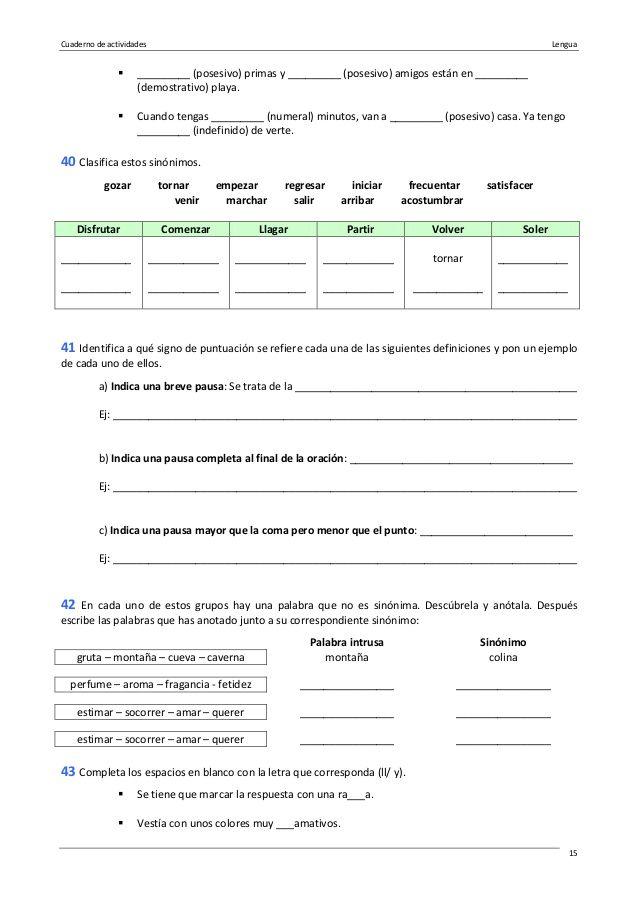 ejercicios pronombres posesivos español pdf