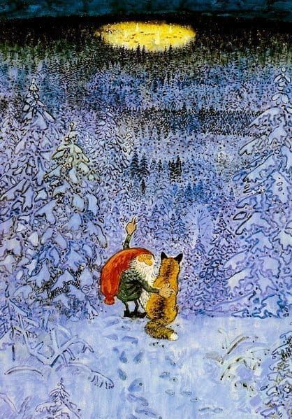 The Tomten and the Reynard celebrates Swedish folklore about a tomte; a gnome that knows many things and even know how to talk to animals, especially foxes.