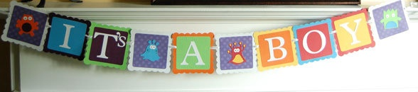 It's A Boy Banner, Baby Shower Banner, Monster Theme On Etsy