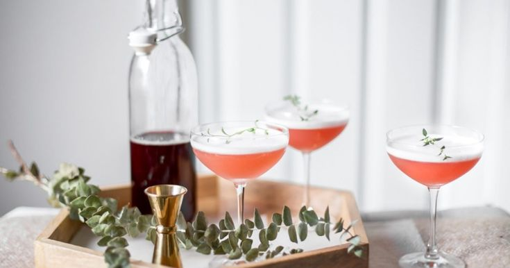 Pink Lady Cocktails with Homemade Grenadine - https://theinspiredhome.com/articles/pink-lady-cocktails-with-homemade-grenadine?utm_source=ExpressPigeon&utm_medium=email&utm_campaign=so%2C%20here%26apos%3Bs%20the%20plan...